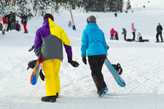 Snowboarders Imagen de archivo libre de regalías
