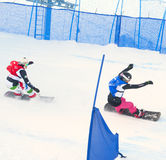 Snowboarders royalty-vrije stock afbeelding
