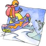 Snowboarders ilustração do vetor