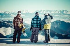 snowboarders Immagini Stock