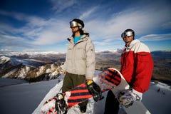 Snowboarders Foto de Stock