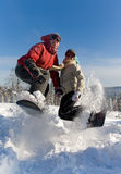 Snowboarders Stock Image