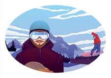 snowboarders Стоковые Изображения
