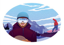 snowboarders Imagenes de archivo