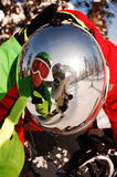 Snowboarders reflection Stock Photos