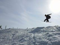 Snowboardgewricht royalty-vrije stock afbeeldingen