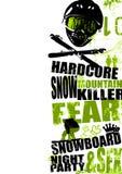 Snowboardhintergrund 2 Stockbilder