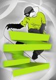 Snowboardhintergrund Stockbild