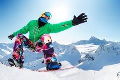 Snowboardind Foto de archivo