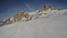 Snowboarding στην Αργεντινή στοκ φωτογραφία με δικαίωμα ελεύθερης χρήσης