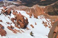 Snowboarding stock afbeelding