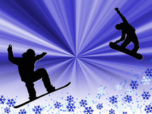 Snowboarding Photo stock