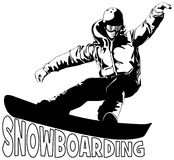 Snowboarding. Sports active illustration vector Stock Images
