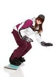 Snowboarding photographie stock libre de droits