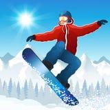Snowboarding Royaltyfri Foto