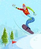 Snowboarding απεικόνιση αποθεμάτων