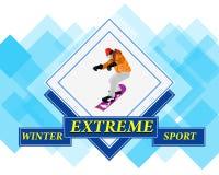 Snowboarding Στοκ Εικόνες