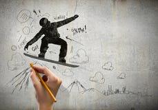 snowboarding Immagini Stock Libere da Diritti