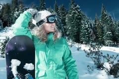 snowboarding royalty-vrije stock foto