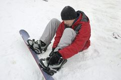 Snowboarding Photographie stock