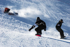 Snowboarding Stockfoto