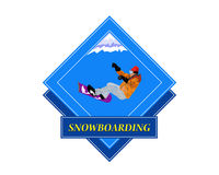 Snowboarding.Adventure 库存图片
