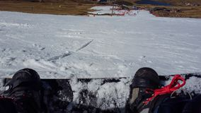 Snowboarding at afriski in lesotho royalty free stock images