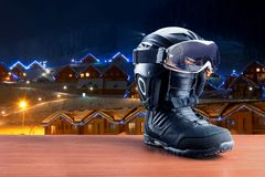 Snowboarding boot Stock Images