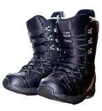 Snowboarding Boots. An isolated pair of snowboard boots Stock Photos