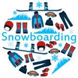 Snowboarding d'affiche Photo libre de droits