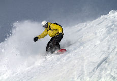 Snowboarding de Freeride Fotografia de Stock