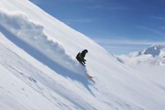 Snowboarding de Freeride Photographie stock