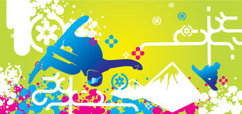 Snowboarding design. Fresh and colorfull snowboarding-theme design Stock Photography