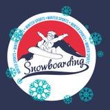 Snowboarding design Royalty Free Stock Image