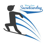 Snowboarding design, vector illustration. Royalty Free Stock Image