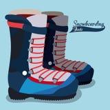 Snowboarding design, vector illustration. Royalty Free Stock Photography