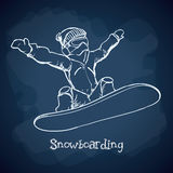 Snowboarding design, vector illustration. Royalty Free Stock Images