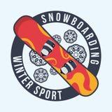 Snowboarding design, vector illustration. Stock Photos