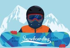 Snowboarding design, vector illustration. Royalty Free Stock Photo