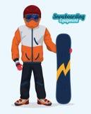 Snowboarding design, vector illustration. Stock Image