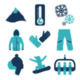 Snowboarding design, vector illustration. Royalty Free Stock Photos