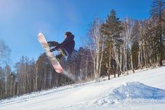 Snowboarding do estilo livre Imagem de Stock