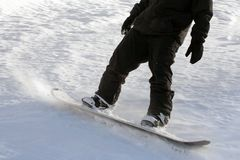 Snowboarding do homem Fotos de Stock Royalty Free