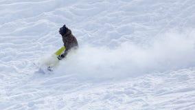 Snowboarding do Snowboarder Fotografia de Stock Royalty Free