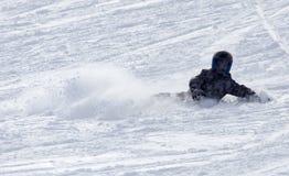 Snowboarding do Snowboarder Imagens de Stock