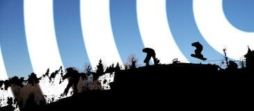 snowboarding dreszcz Obrazy Stock