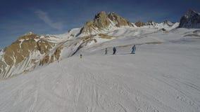 Snowboarding em Argentina Imagens de Stock