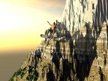 Snowboarding extrema Imagens de Stock Royalty Free