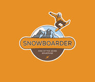 Snowboarding extreme Royalty Free Stock Images