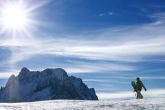 Snowboarding för vintersport royaltyfri fotografi